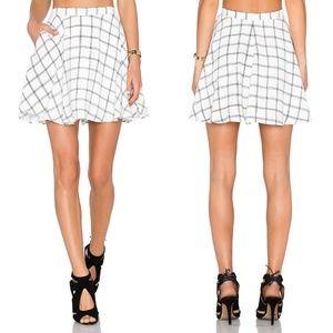 NBD Perfect Day Black White Grid Mini Skirt sz XS